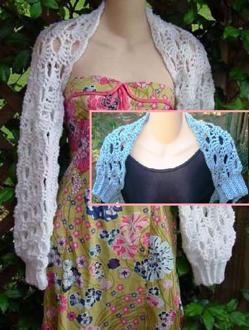 Shop for Blue crochet shrug or bolero patterns online - Read